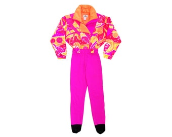 Wild 80s Neon Obermeyer Pop Art Snow Suit - L / 10