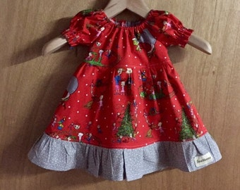 Grinch Christmas Dress, infant size 6 months.