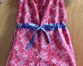 Boho/Hippie/Retro Style Cotton Summer Shorts Romper, child size 6