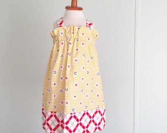 Apple Farm Fall Halter Dress, 3t, Baby Dress, Toddler Dress, Fall Outfit