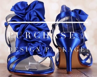 Design Package:  Design Your Own Wedding Shoes, Custom Wedding Shoes, Something Blue, Blue Wedding Shoes, Blue Wedding