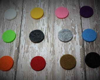 Five Felt Pads for 30mm Essential Oil Diffuser Necklaces