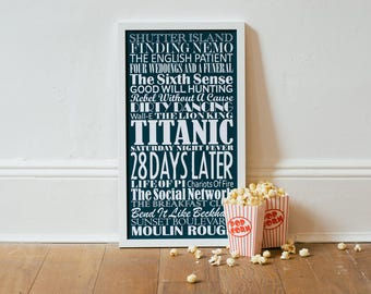 Personalized 'Top Twenty Films' Print