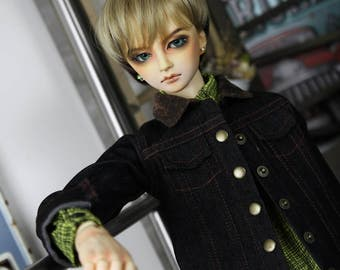 SAYOKO outfit for SD17 Boy dollfie 1/3 BJD - denim jacket - black (No.E480)