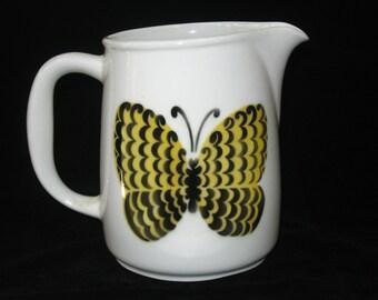 Birger Kaipiainen Arabia PERHO Butterfly Pitcher - Kaj Franck FL-3 Mid Century Modern Milk Jug Finland