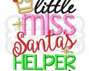 Little Miss Santa's helper-  Christmas shirt - Christmas applique- Christmas Shirt - Christmas applique shirt - girls holiday