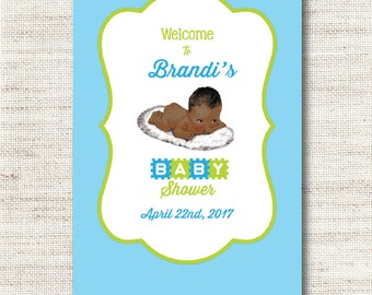 Baby Shower Welcome Sign 24 x  36 or 20 X 30 - DIGITAL FILE
