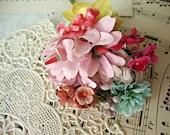 Antique Vintage Velvet Millinery Flowers Posy - #9