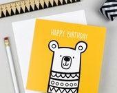Teddy Bear Birthday Card | Greetings Card | Kid's Birthday