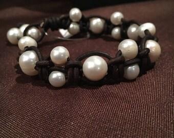 Bubbles freshwater pearl bracelet