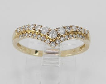 Diamond Guard Wrap Around Wedding Band Anniversary Ring Yellow Gold Size 7.25