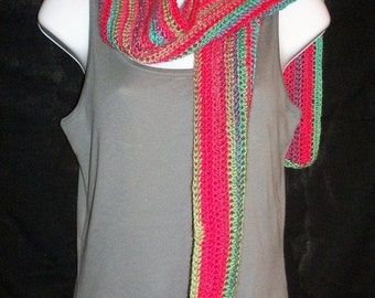 ON SALE Parrot Striped Scarf