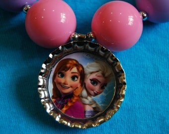 Girls Chunky Frozen Themed Necklace