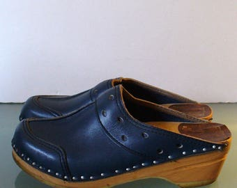Vintage Bastad Original Clogs Made in Sweden Size 36 EU