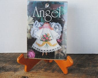 Counted Cross Stitch Clothespin Angel Bouquet Kit
