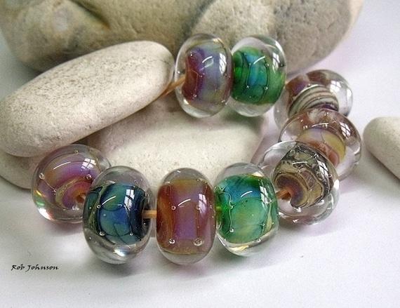 encased silver glass orphans lampwork beads sra uk