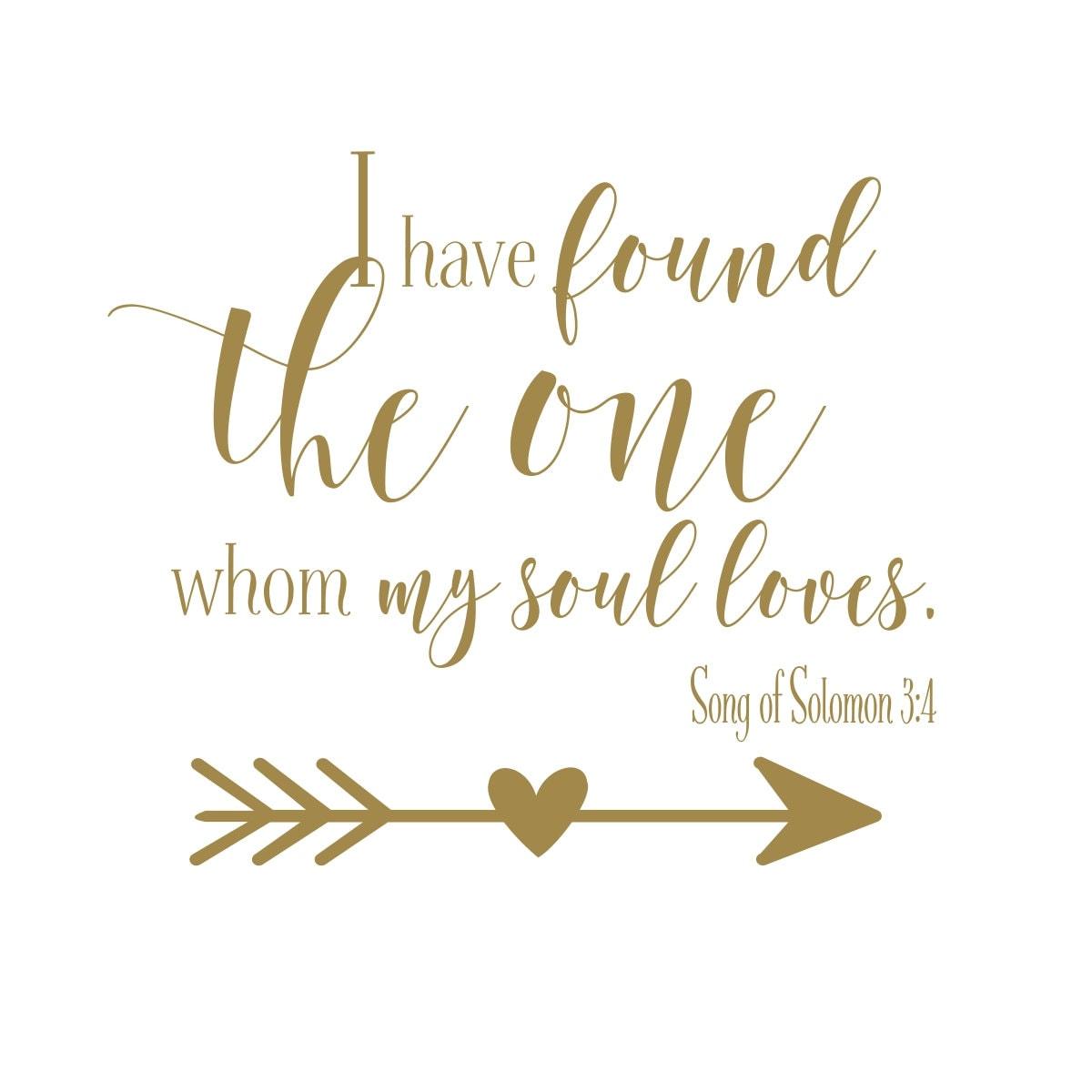 Song Of Solomon 3 4 Wall Art