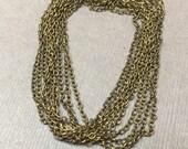 Natural Brass Fine Chain. Antique Brass. Bulk Chain. Delicate Chain. Eco-friendly. 1.5mm. 23 Feet.