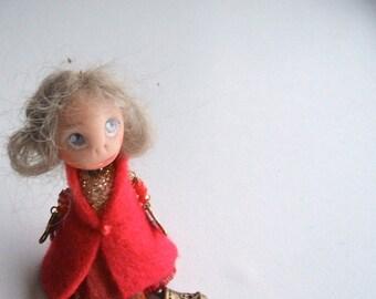 Brooch doll - Doll-brooch Dancing - Handmade - Handmade brooch - Brooch girl- funny doll brooch- OOAK - Brooch