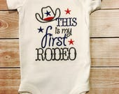 This Is My First Rodeo onesie Baby