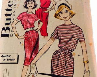 1960's Sheath Dress Butterick 9593
