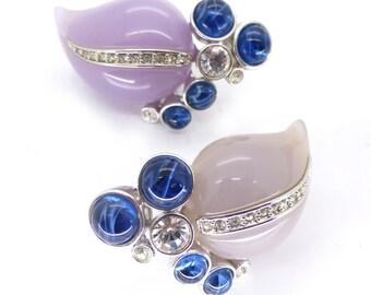 Vintage Kenneth Jay Lane Lucite Rhinestone Earrings