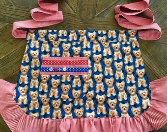 Puppy Love, Hostess/Diner Style Apron
