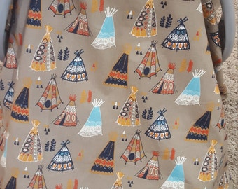 Carseat Tent - Tee pee Carseat Canopy, Tent, Woodland, Tribal