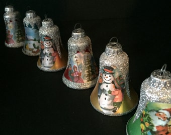 West German Christmas Bell Ornaments