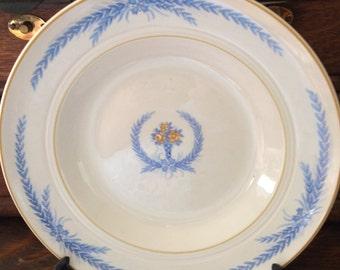 Vintage Salem China Co. Sheffield Soup Bowls, Set of 7