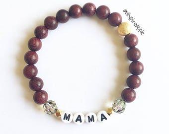 CUSTOM •OOAK• MAMA Bracelet >> Rich Purple Wood