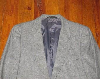 Rare Vintage 1980s Yves Saint Laurent YSL French Suit Jacket and Vest Set