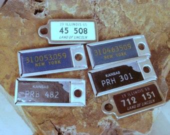 Six DAV Tags - Mini License Plates