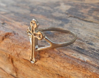 Cross Ring Size 9  ~  Cross Ring  ~  Religious Ring