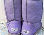 SALE UGG boots , size 9, purple Ugg boots, short Ugg boots, sheepskin boots, original authentic Uggs, winter spring boots,Australian