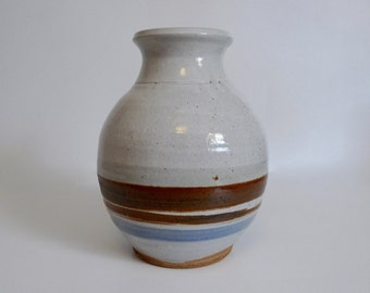 Large Vintage Stoneware Vase Handmade Studio Pottery - Floyd Jones Vintage