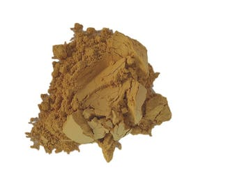 Matte Buttery Pale golden Yellow Makeup Eyeshadow  loose  Eye Shadow   Mineral Makeup Vegan Natural  Pigmented Organic