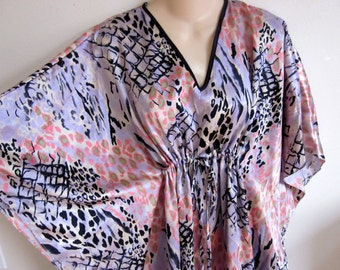 Caftan dress robe lounge wear nightgown kimono one size S M L XL