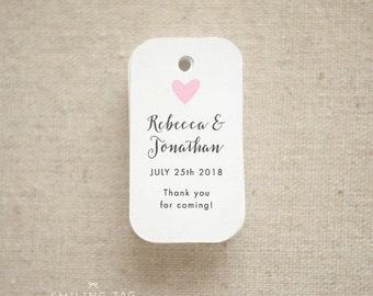 Thank you For Coming Wedding Favor Tags - Personalized Gift Tags - Bridal Shower - Thank you tags - Party Tags - (Item code: J620)