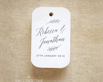 Rustic Botanical Fall Wedding Favor Tags - Personalized Gift Tags - Bridal Shower - Thank you tags - Party Tags- Set of 24 (Item code: J654)