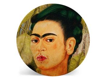 Frida Kahlo Melamine Plate, Melamine Plate, Frida Kahlo, decorative plate, Dinner Plate, Serving Plate