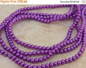 20% off 4mm Orchid Glass Pearl Beads, 100 PC (INDOC086)