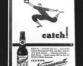 Narragansett beer vintage ad gelatin silver print Rhode Island