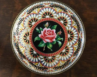 Vintage Rose Candy Tin ~ Marked England