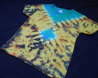 Fire And Emeralds Child X-Small Tie Dye Shirt #059