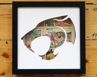 Thundercats Logo Silhouette Wall Art - Liono Tygra Artwork Picture Comics