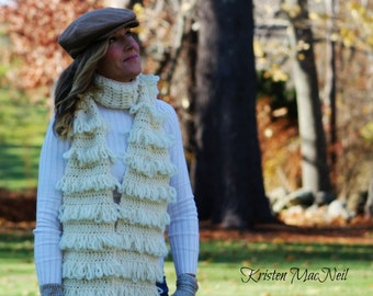 Crochet scarf patterm-The Ivy Loop Stitch Scarf