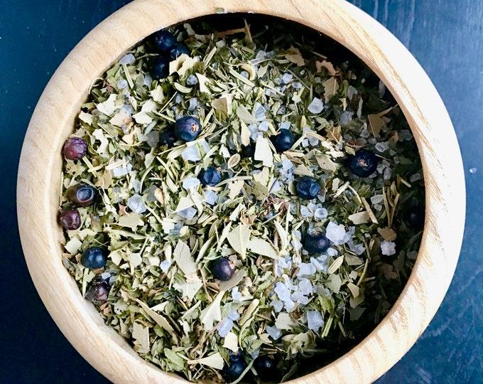 Featured listing image: WINTER BATH Bath Tea>>11oz/botanicals/all natural/peppermint + eucalyptus/howard soap company/minnesota made
