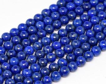 "6MM Lapis Lazuli Beads Genuine Afghanistan Lapis Grade AAA Natural Gemstone Round Loose Beads 16"" BULK LOT 1,3,5,10 and 50 (100187-272)"