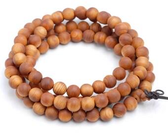 8mm 108PCS Barbie Aromatic Oily Sandalwood Grade AAA Prayer Buddha Mala Meditation Beads Round Loose Beads BULK LOT (80003074-398)